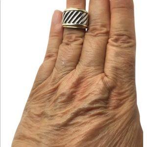 David Yurman sterling silver 14k ring